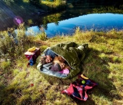 Sleepingo Double Sleeping Bag For Backpacking, Camping, Or Hiking